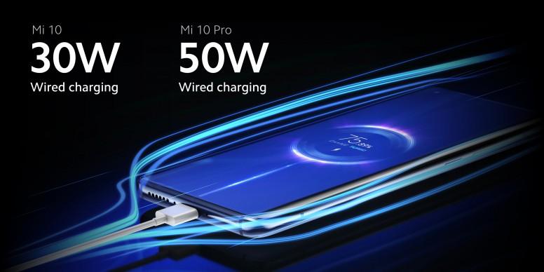 小米 10 / 小米 10 Pro 充电规格