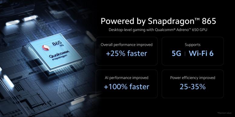 小米 10 / 小米 10 Pro 采用高通骁龙 865 处理器
