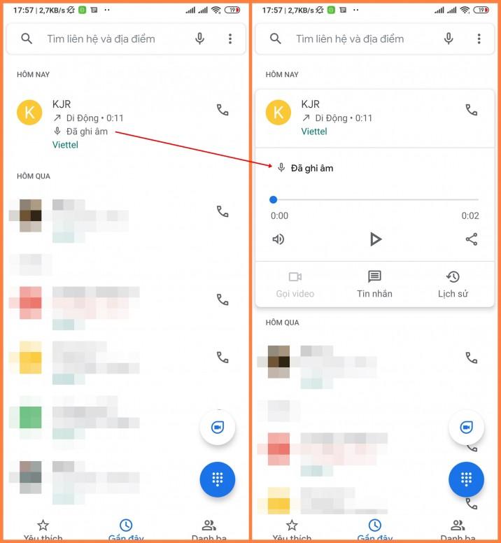 Ghi âm cuộc gọi - Tính năng đã xuất hiện trong ứng dụng Điện thoại Google bản beta