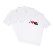 Mi I Love Mi T-Shirt White (Pack of 3)