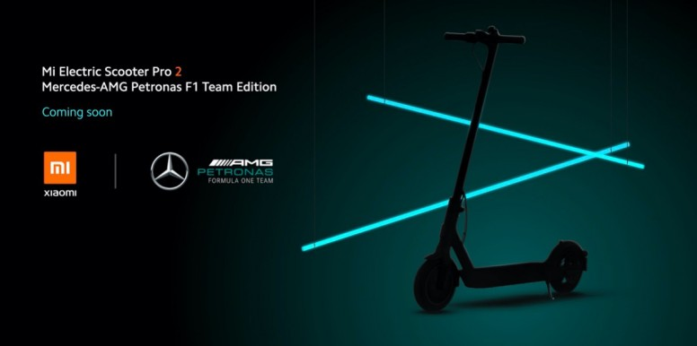 Wow! Xiaomi have joined up with Mercedes AMG F1 to create Mi Electric Scooter Pro 2!