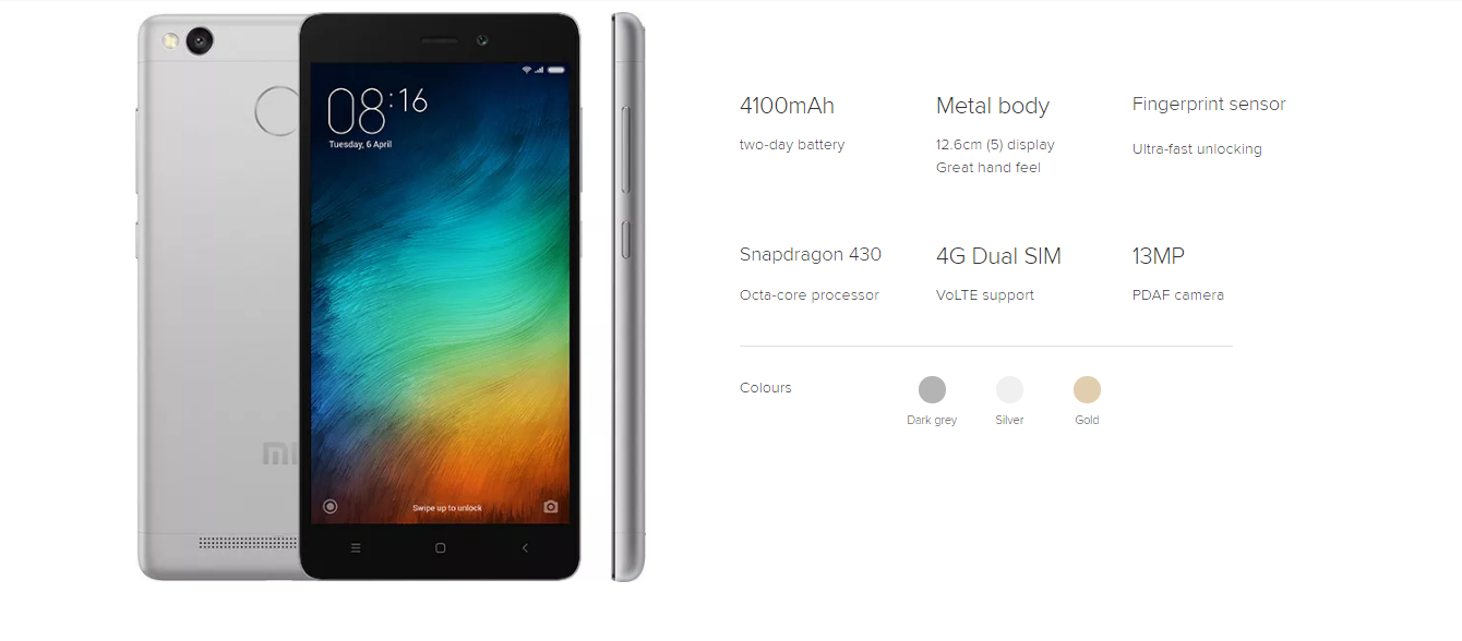 Xiaomi Redmi 3S and Redmi 3S Prime Launched! Here's What You