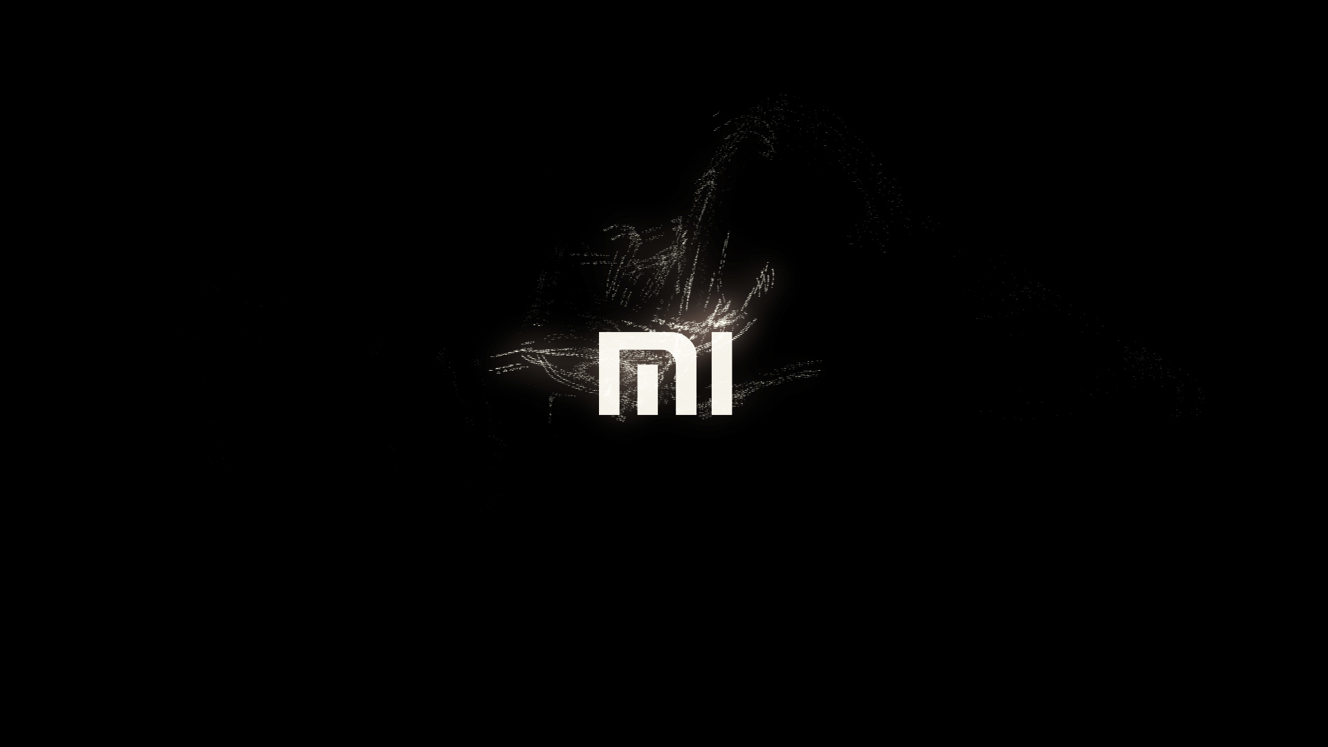 xiaomi MI logo animation made in fusion particles by fan ...