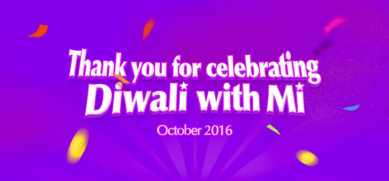 Announced Thank You For Celebrating Diwali With Mi