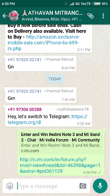 Enter and Win Redmi Note 3 and Mi Band 2 - Chat - Mi