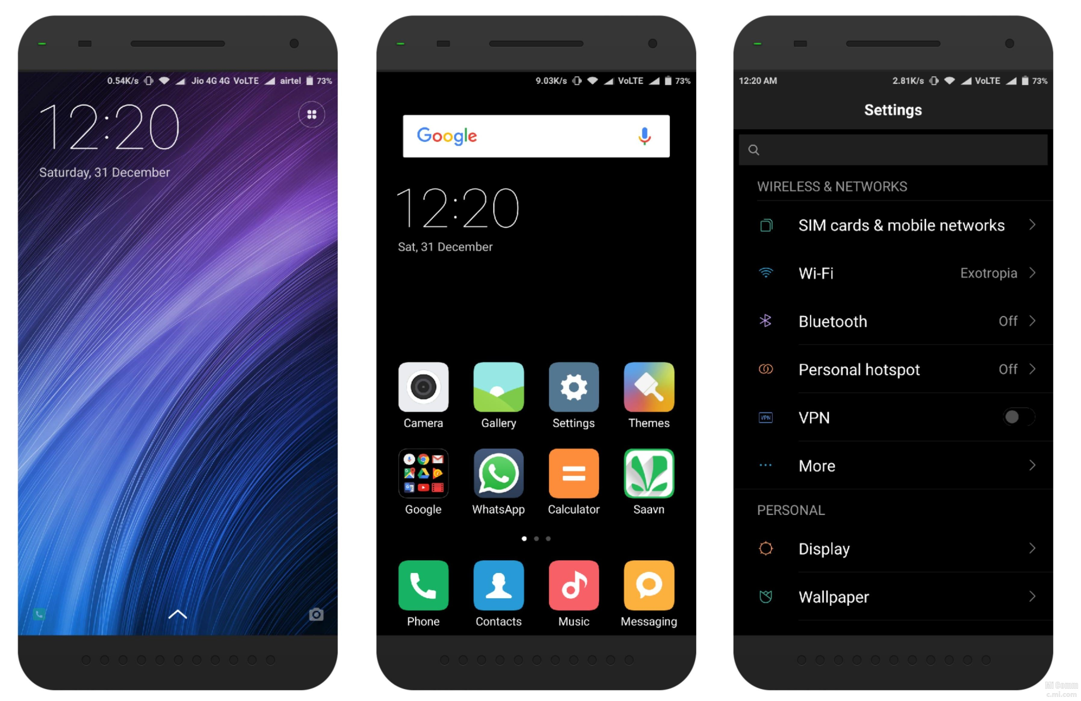 Theme For Xiaomi Redmi Note 4 For Android: [Ported][Official] Mi Note 2 Dark Theme
