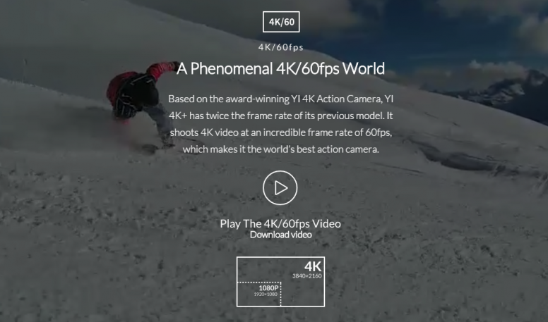 Xiaomi - Yi 4K+ Action Camera launched at CES - Tech - Mi