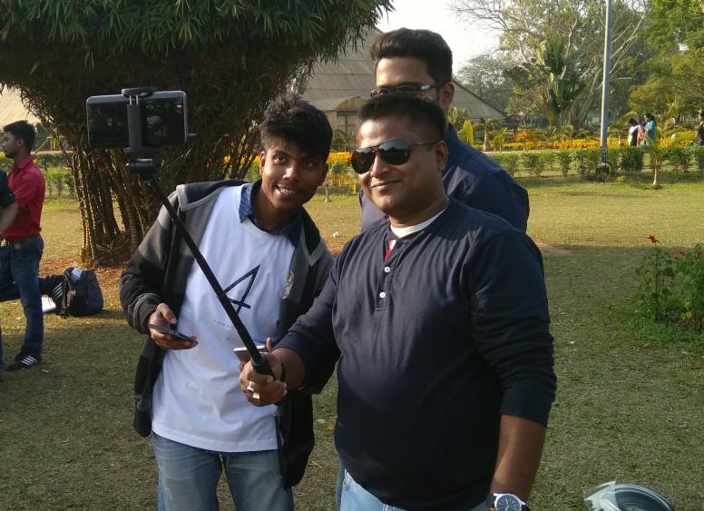 Pulak bhai with Mi Selfie Stick