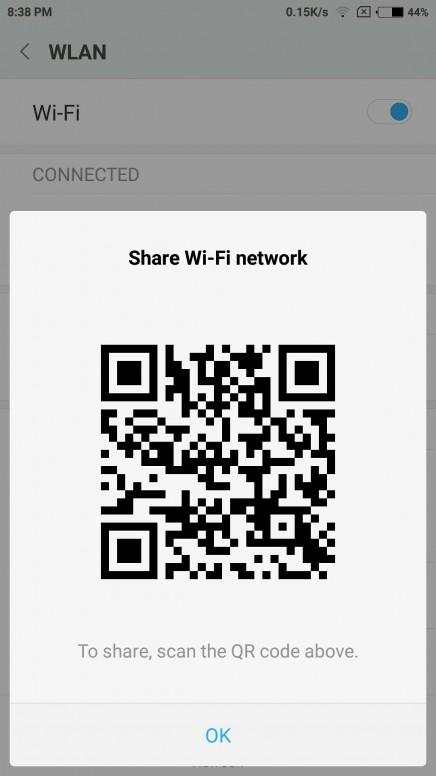 MIUI feature Tutorial+ WiFi Password Tap(QR Code) - Redmi