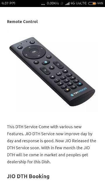 JIO DTH Set Top Box Launch Date & Plans – Online Booking