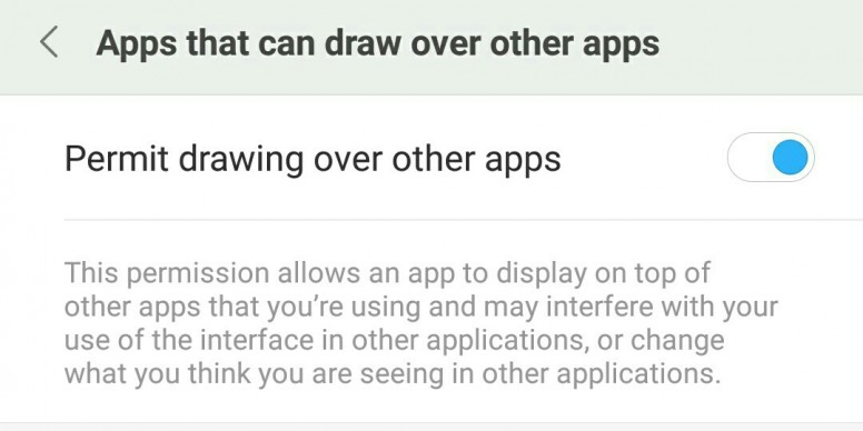 Permit Drawing Over Apps Miui General Mi Community Xiaomi