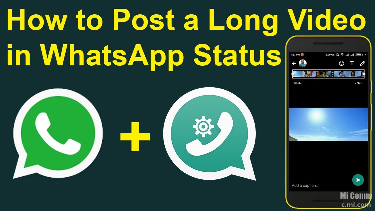 how to put whatsapp status video