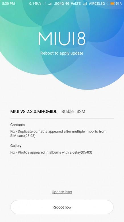 Redmi Note 3 823 Released
