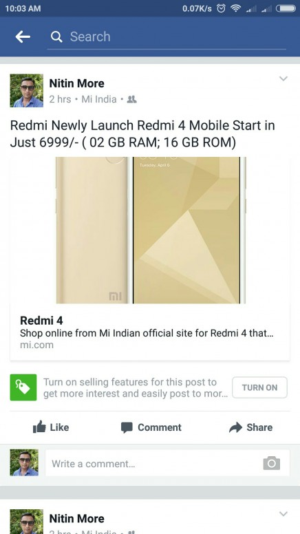 My Facebook Post - Redmi Note 4 - Mi Community - Xiaomi