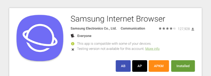 Samsung opens its browser app to some non-samsung phones