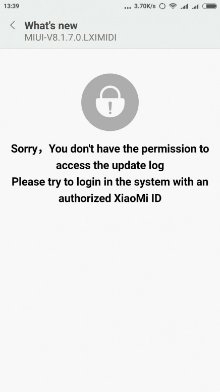 didn't receive OTA update for mi4i - Mi 3 & Mi 4 - Mi