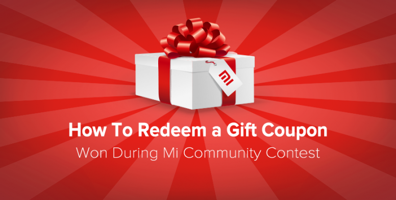 how to redeem a gift coupon won during contests chat mi