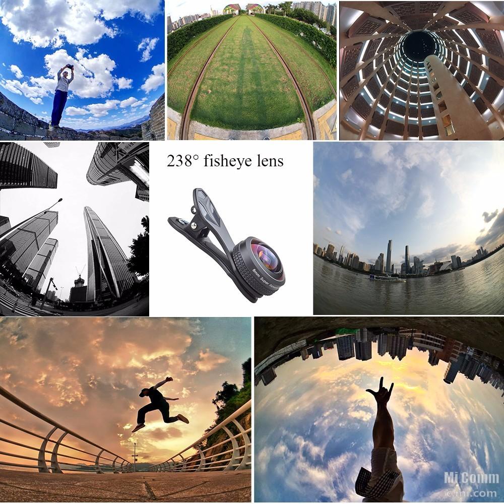 Apexel 8mm Fisheye Super 238 degree Lens [Unboxing/ Review/ Lens on/ Samples]
