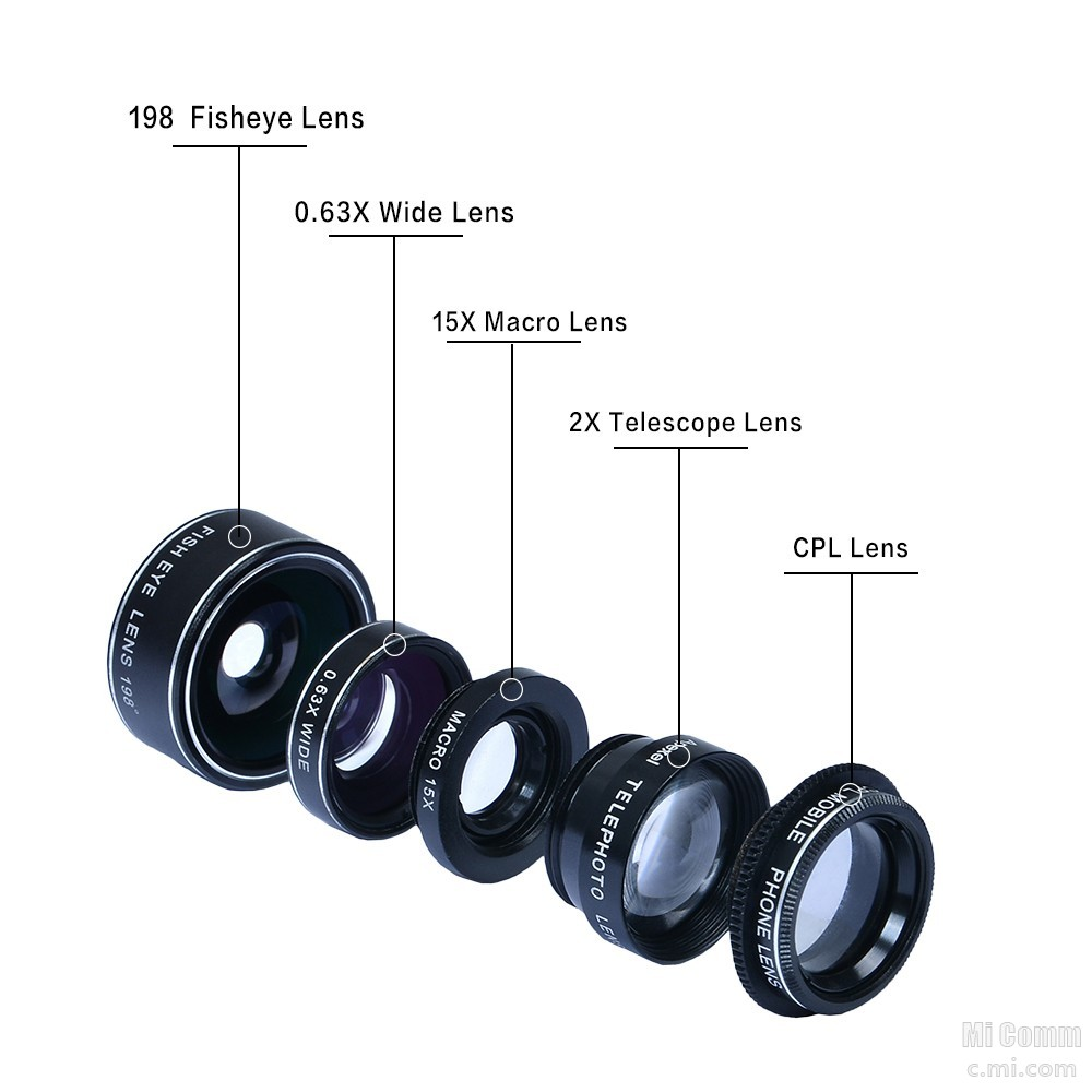 Apexel 5 in 1 Lens Pack [Unboxing/ Review/ Lens on/ Samples] using Mi 5