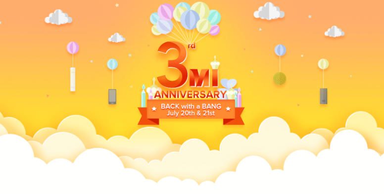 Mi rd anniversary exclusive deals offers on july and st