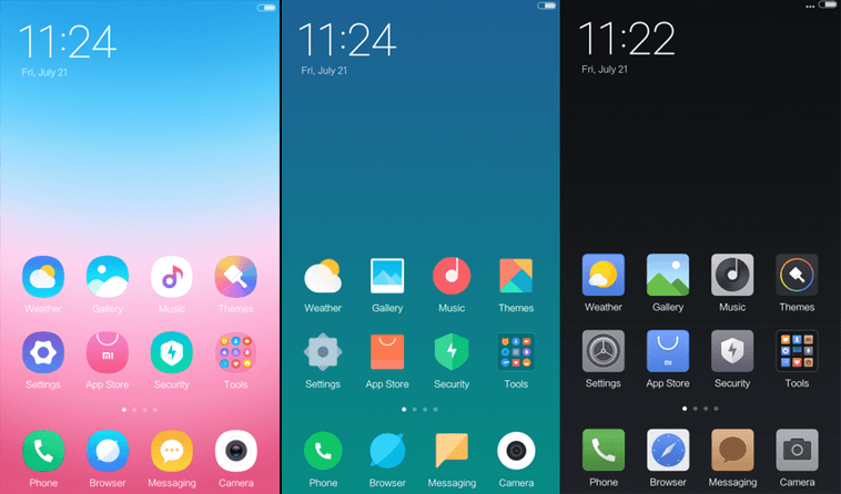 Preview of MIUI 9 New Official Themes  Which is the best one