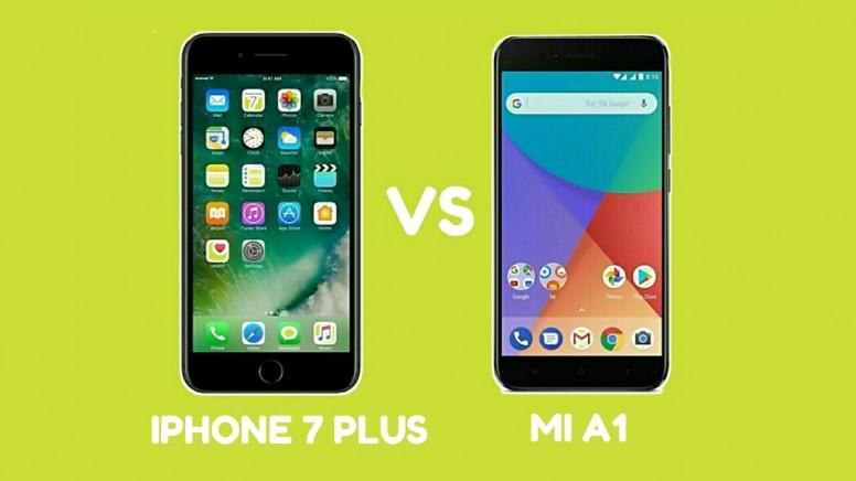 XIAOMI A1 VS IPHONE 7