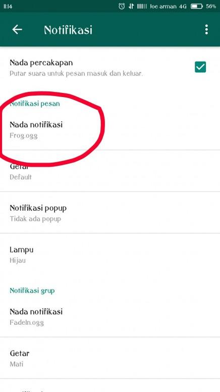 whatsapp tidak bisa diganti