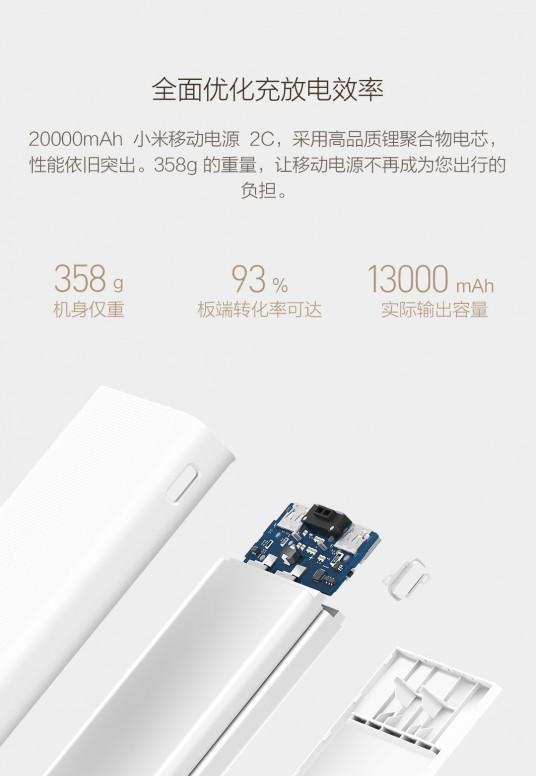 Xiaomi ra mắt pin sạc dự phòng Mi Power 2C 20000 mAh