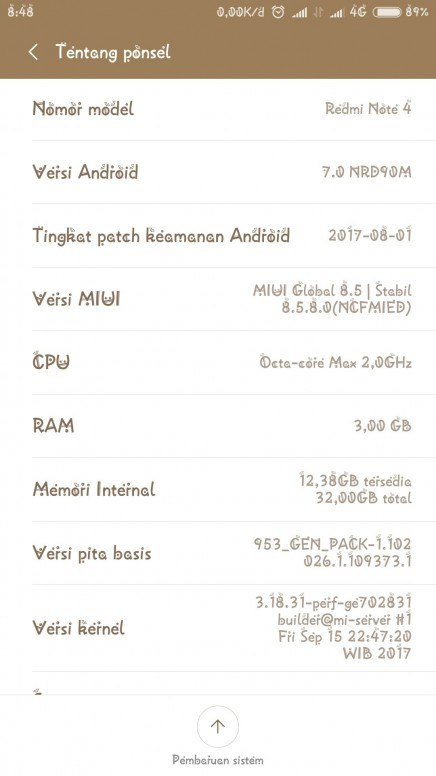 Baterai Tambah Boros Setelah Upgrade Mui Redmi Note 4 Mi