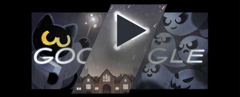 magic cat halloween game google celebrates 19th birthday with games from doodles past
