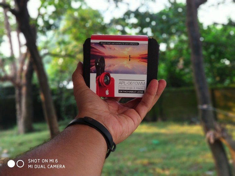 [PT] [RED] Apexel 2 in 1 10x Macro + 0.6x Wide Angle Lens Unboxing, Lens on, and Review with Mi6