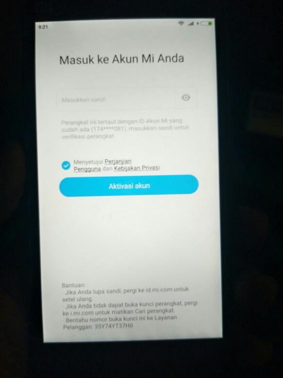 Minta Bantu Yang Tau Cara Buka Akun Lupa Sandi Redmi Note 4 Mi