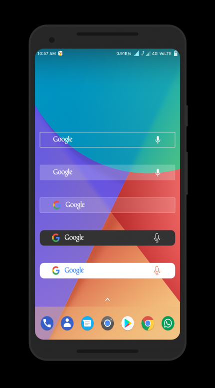 Samsung S8 Google Search Bar Widget For All Android Device