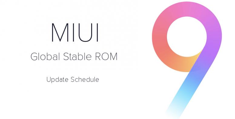 Jadwal Update ★ MIUI 9 Global Stable ★ Semua Xiaomi