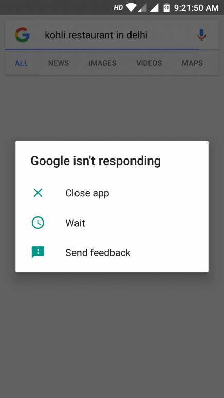hang in Google app , please help to slove this problem - Mi