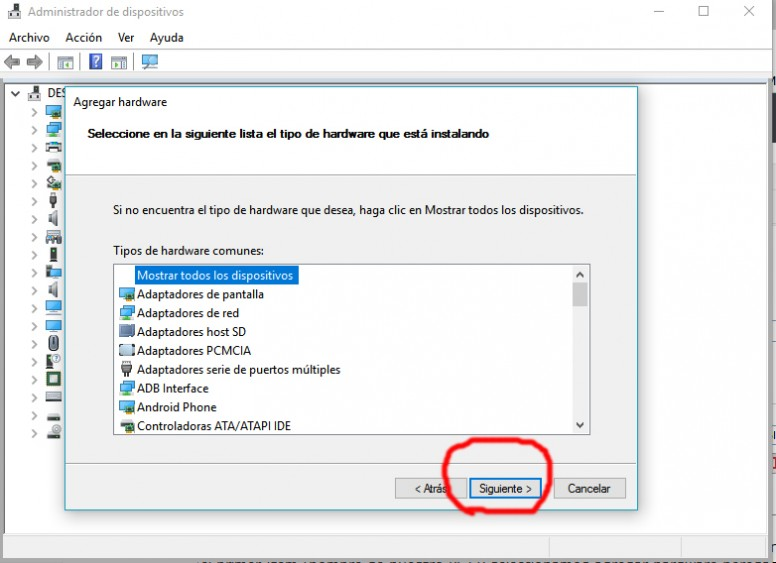 Instalación de drivers Mediatek (MTK) en windows 10 de 32 o