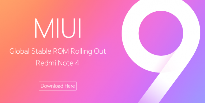 MIUI‬ 9 Global Stable V9.0.5.0.NCFMIEI For Redmi Note 4 is Released