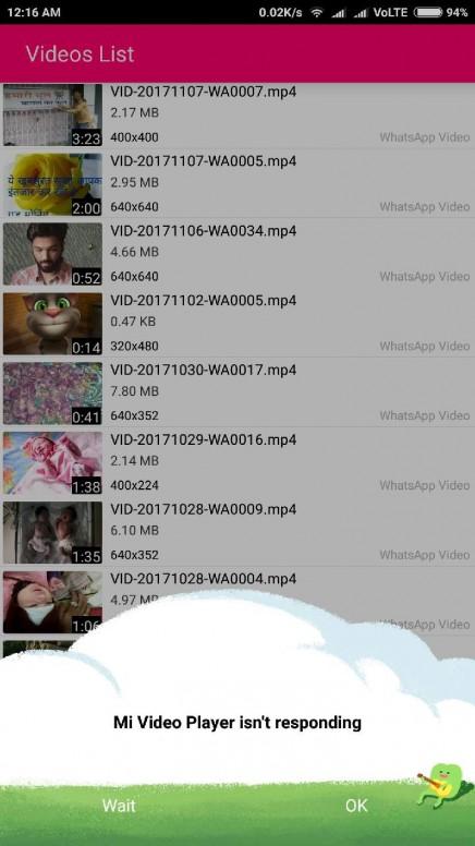 freezing & Stucking Problem in Mi Video Player - Mi Max 2 - Mi