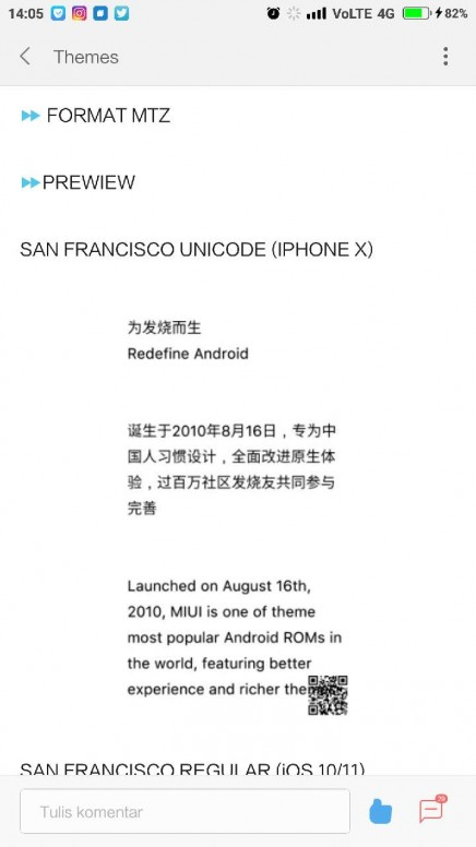 Font iOS SanFrancisco - MIUI General - Mi Community - Xiaomi