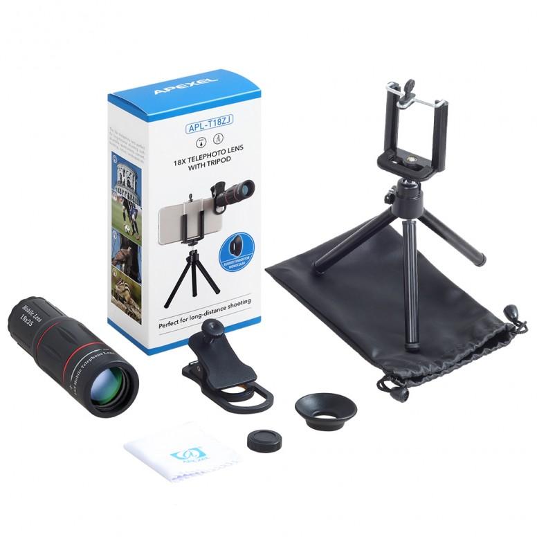 [Portrait] Apexel 18x New Super Zoom Lens Samples Using Mi6 Review/ LensOn/ Unboxing