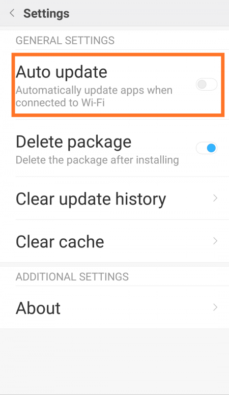 how to stop mi apps from updating