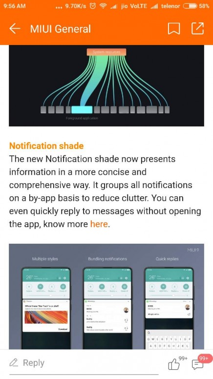 notification shade feature is not working in my redmi note 4