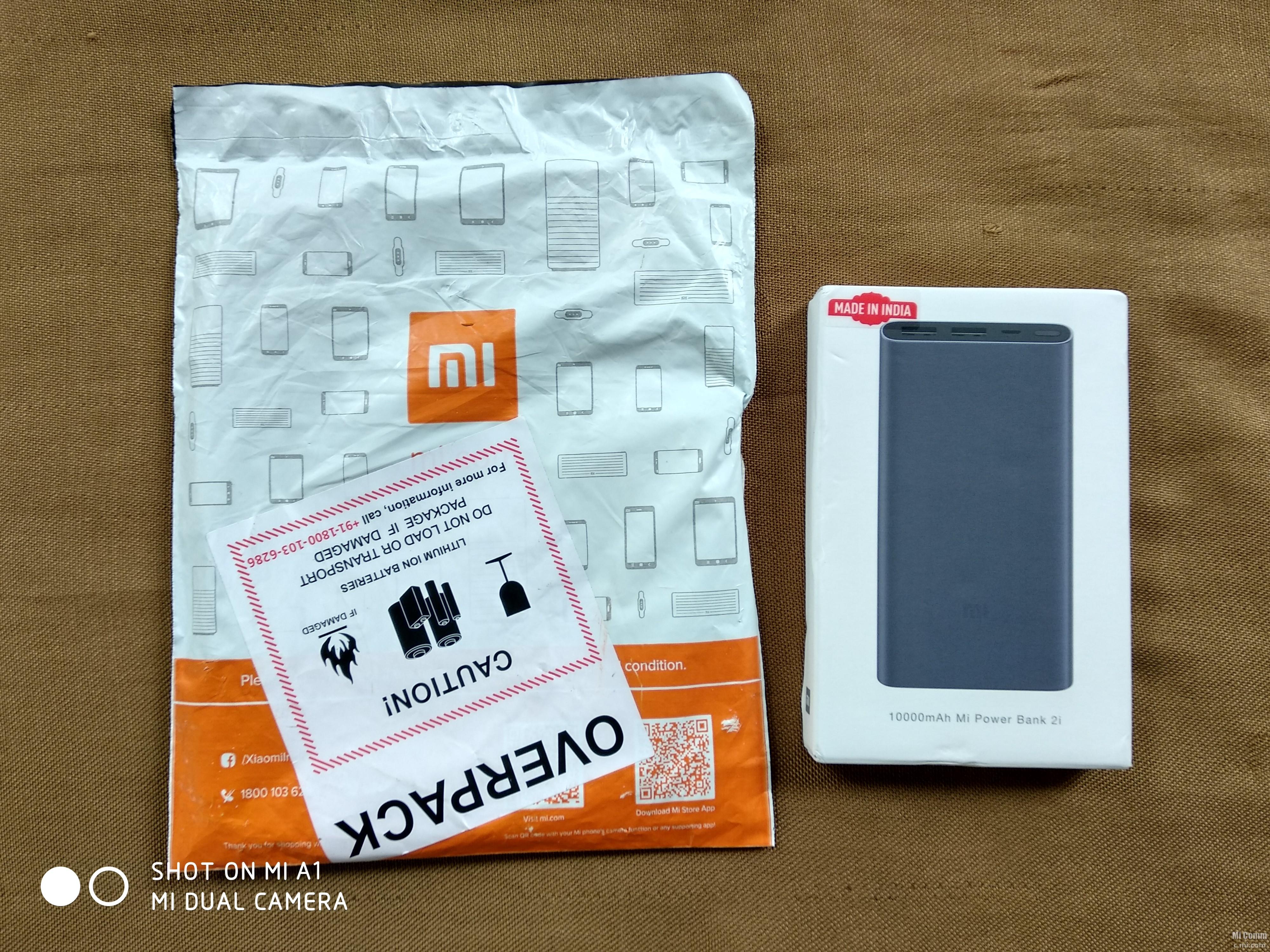 Unboxing 10000mah Mi Power Bank 2i Accessories Community Xiaomi Powerbank