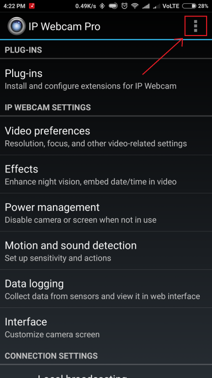 IP Webcam: Turn Your Phone Into A Network Camera Without