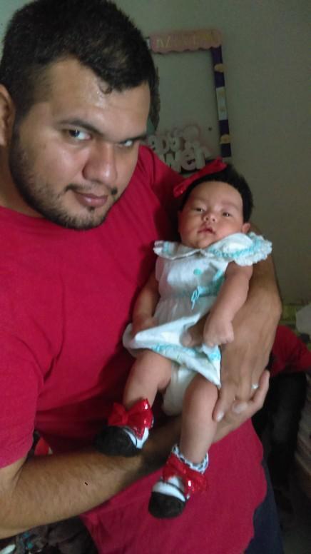Y mi hija nuevo integrante de mi mundo
