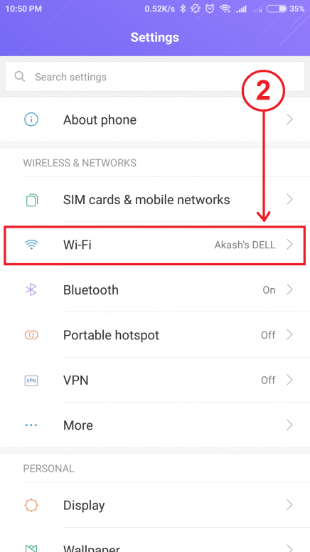 Connect Your Mi Phone to A Wi-Fi Network Without Any