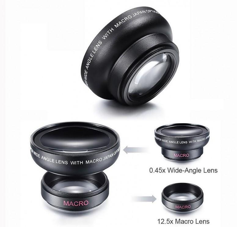 Apexel India 2in1 12.5x Macro + 0.45x Wide Angle Lens Review Samples LensOn Unboxing [Mi6]