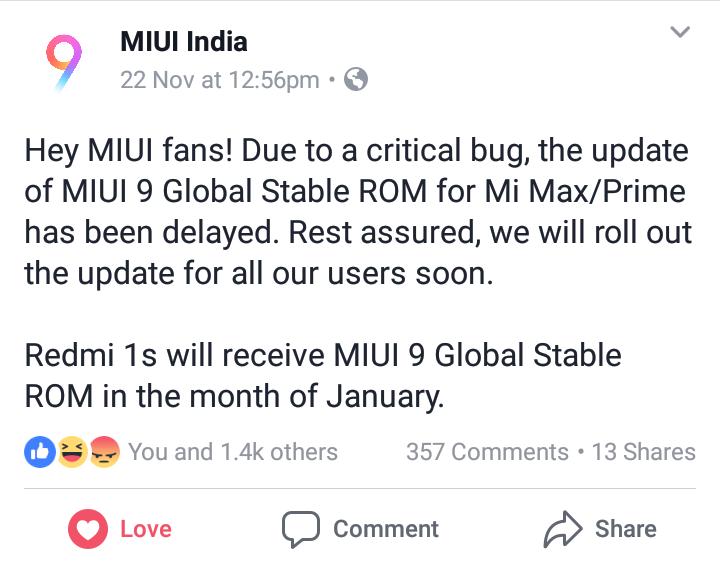 Redmi 1S, Android Oreo Go edition - MIUI Feedback - Mi Community