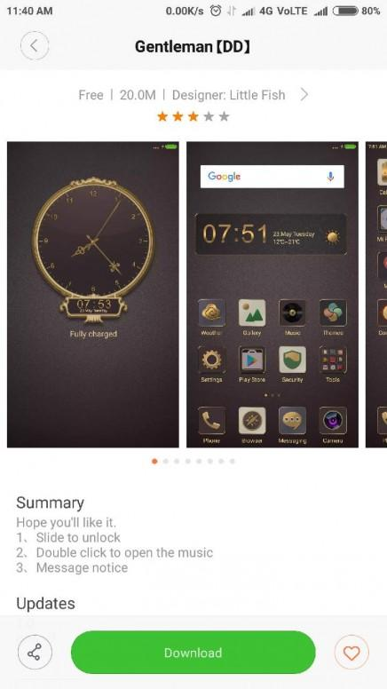 Lock screen Clock of