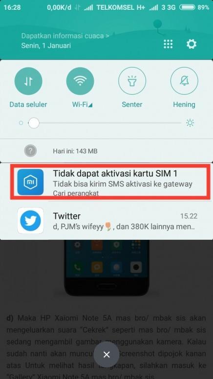Masalah Aktivasi Kartu Sim 1 Redmi 5a Mi Community Xiaomi